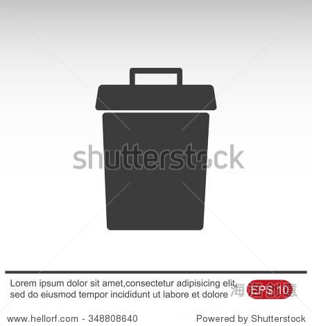 垃圾桶矢量图标-符号/标志-海洛创意正版图片
