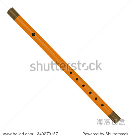 vector illustration musical instrument wooden reed pipe or flute