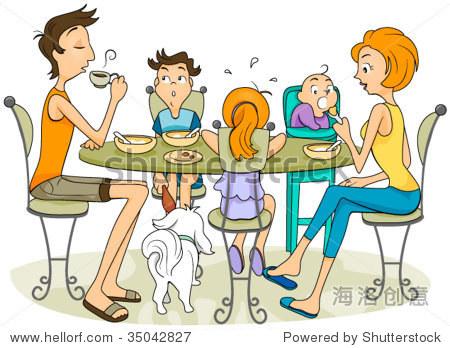 儿童画画图片大全家庭