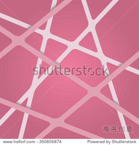 粉色條紋的背景.粉色帶不同的水平.重疊的抽象的3 d粉紅絲帶的背景.