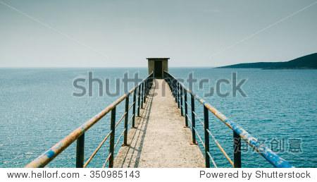 海边的全景图,概念图.设计,无限的前景