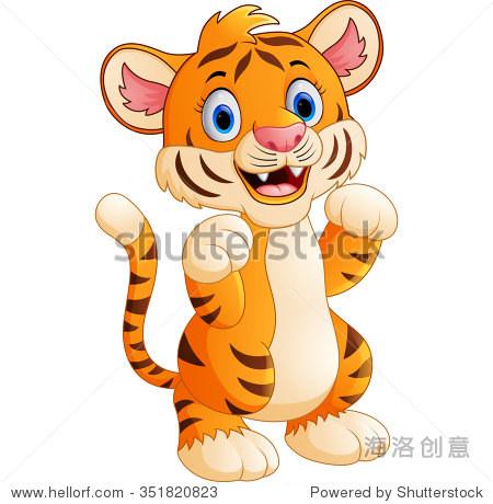 卡通可爱的老虎