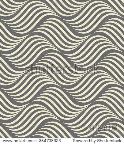 抽象几何图案与波浪线,条纹.一个无缝的背景.灰色点缀