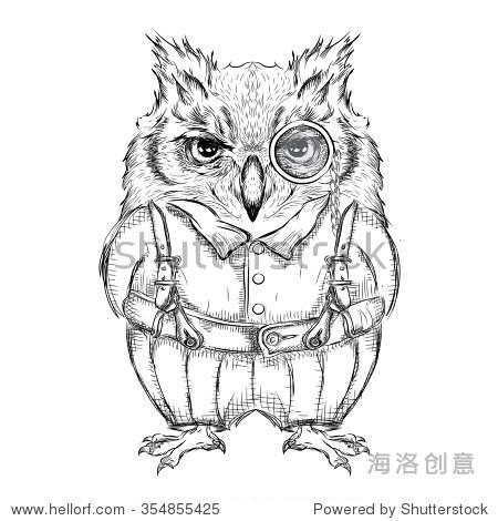 手工绘图.矢量图 - 动物/野生