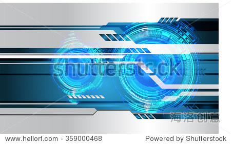 深蓝色的颜色光文摘技术背景为计算机图形网站网络和业务.电路.