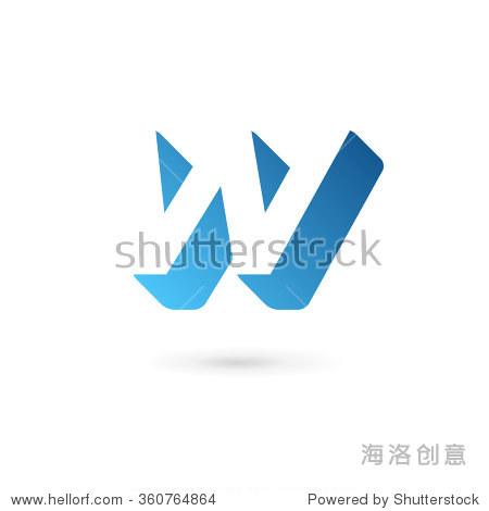 字母w标志图标设计模板元素