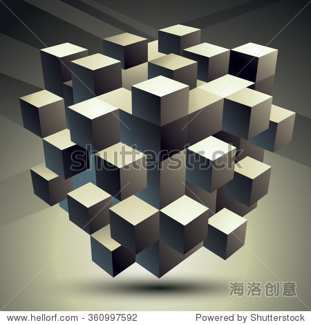 几何单色多边形结构,现代科技元素,建模.