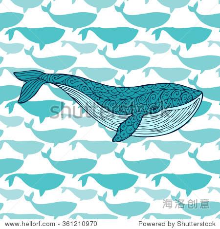 巨大的蓝鲸鱼群的背景下,鲸鱼.