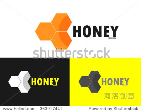 logo bee honey. modern logo for bee products.