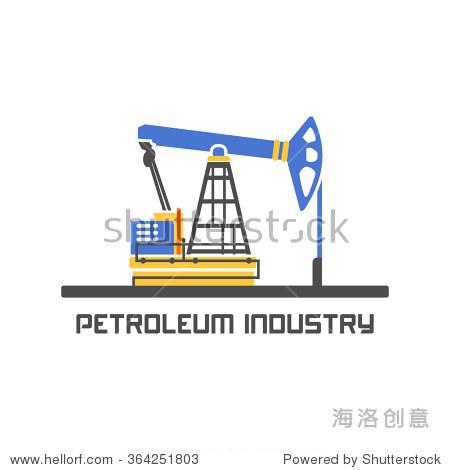 石油行业标志设计模板.天然气和石油的生产.汽油的标志.