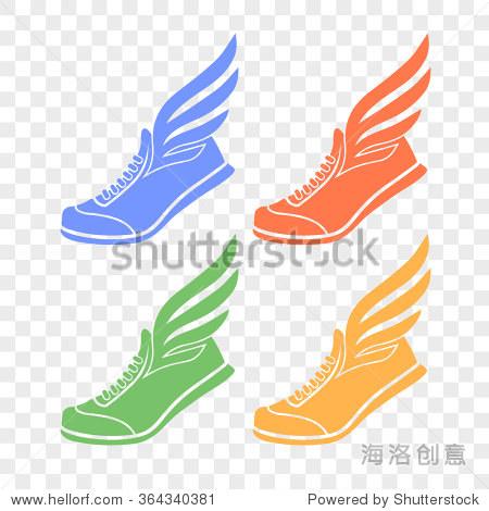 长着翅膀的运动鞋图标 - 运动\/娱乐活动,美容\/时