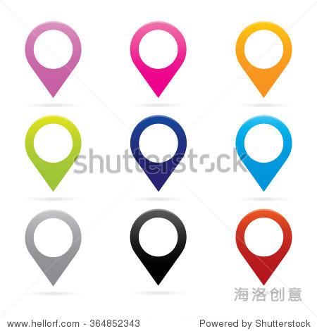 设置地图指针图标标记gps定位标志符号
