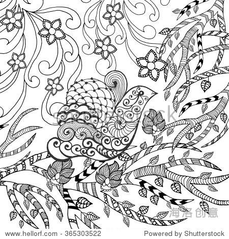 动物.手绘涂鸦.民族图案的插图.非洲,印度,图腾纹身设计.