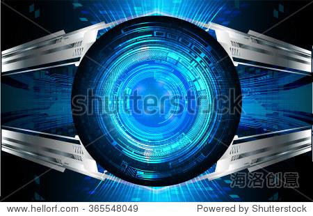 深蓝色的银色光文摘技术对计算机图形网站网络和业务背景.电路.