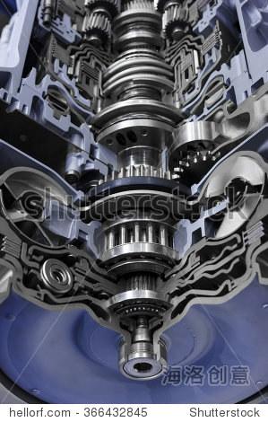 链轮,齿轮箱截面,发动机行业的汽车变速器齿轮和轴承超大的卡车,越野