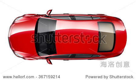 跑车俯视图手绘