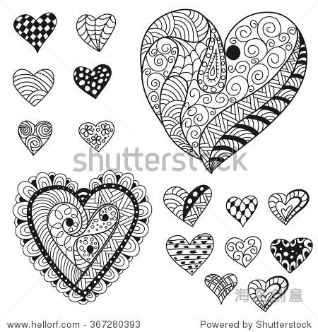 收藏装饰手绘心情人节的点缀.涂鸦风格.贺卡的设计元素