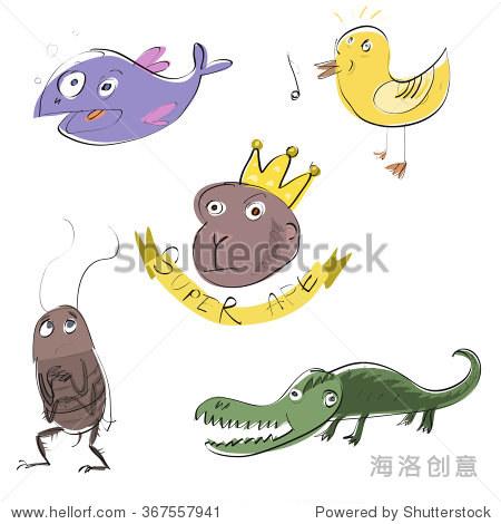 五个有趣的动物组
