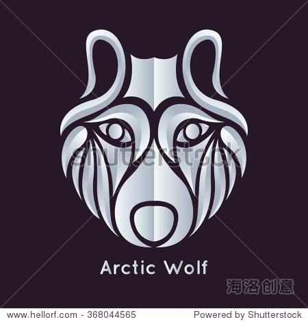 北极狼标志矢量