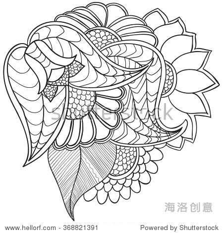 手绘艺术民族装饰图案花框架在涂