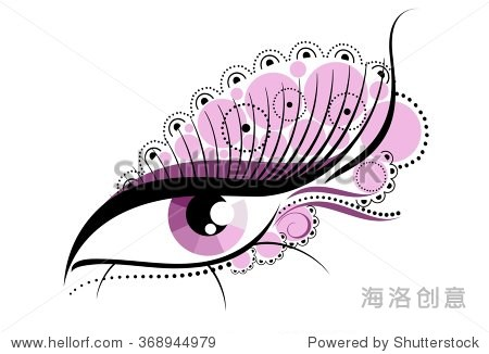 一个抽象的眼睛和睫毛 - 符号\/标志,抽象 - 站酷