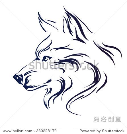 狼的头矢量图