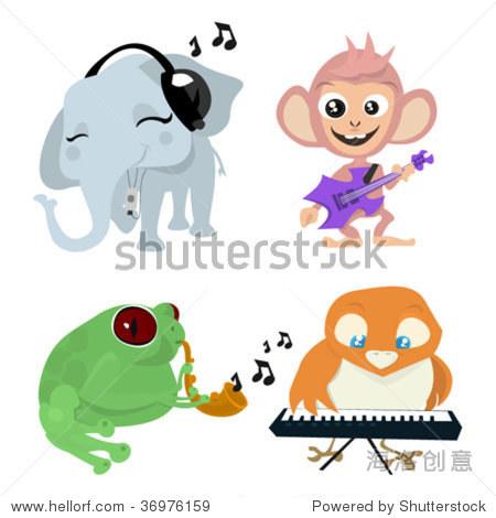 可爱的动物乐队