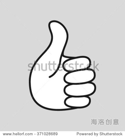 伸出大拇指图标,矢量标志说明