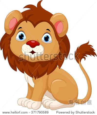 可爱的小狮子卡通