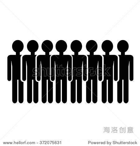 人口人图标插图设计图片