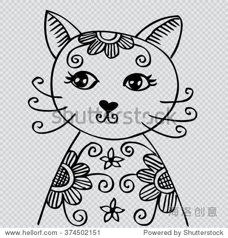 涂鸦风格.-动物/野生生物,背景/素材-海洛创意正版