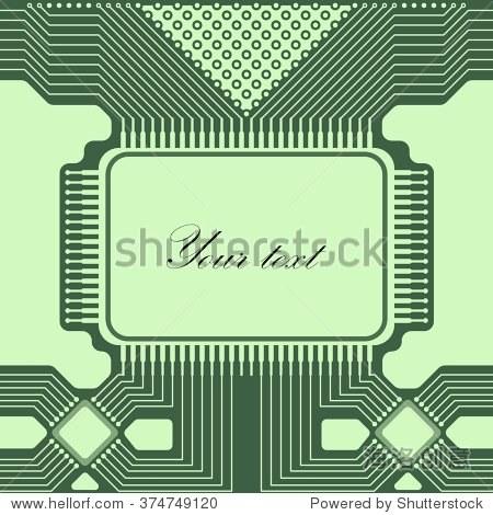 绿灯文摘技术背景电路.背景贺卡,表示,卡片,传单和小册子.矢量插图.