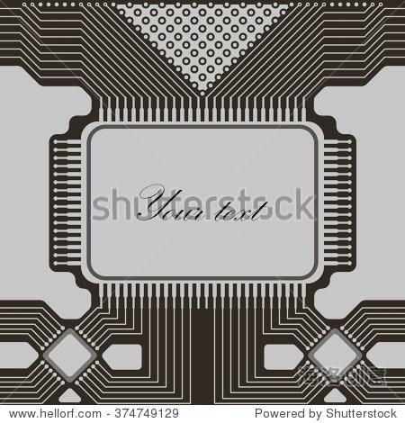 灰色光电路抽象技术背景.背景贺卡,表示,卡片,传单和小册子.矢量插图.