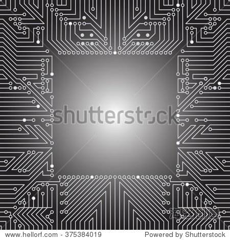无缝背景电脑板设备的电路(主板).灰色光文摘技术背景