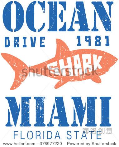 海洋,鲨鱼插图,t恤图形 - 动物/野生生物,符号/标志