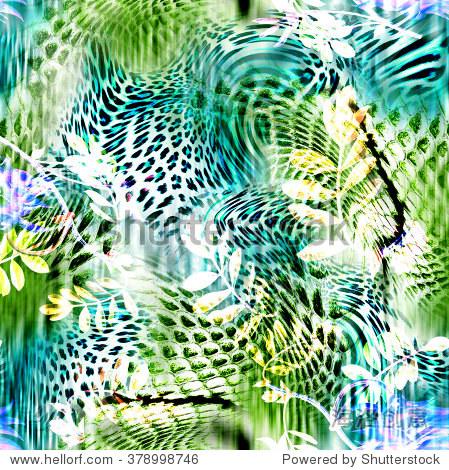 豹轮丝巾设计,时尚纺织图案-背景/素材,抽象-海洛创意