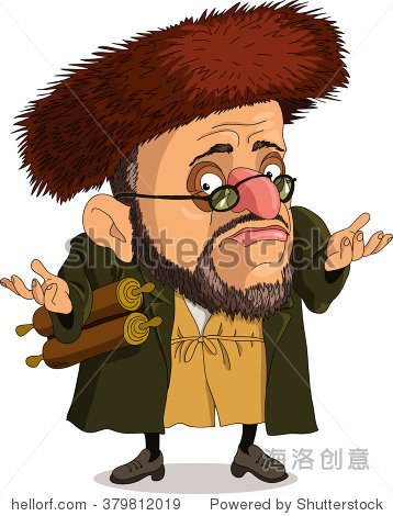 funny jew. travesty cartoon. characters.