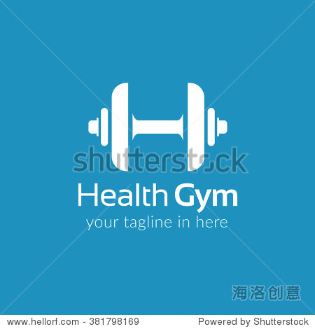 health gym and fitness logo template design vector图片