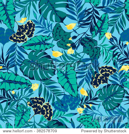 vector seamless stylish bright artistic topics pattern with