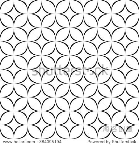 seamless monochrome abstract star pattern design图片