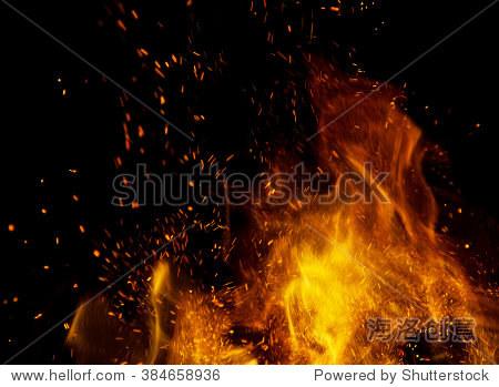 火灾火焰和火花黑色背景 - 背景/素材,抽象 - 站酷,,.