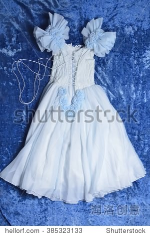 lite蓝色结婚或鲦鱼礼服(-)女孩 - 背景/素材,美容