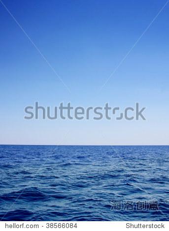 深蓝海景作为背景-背景/素材