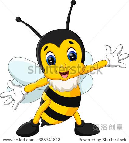 卡通可爱的蜜蜂