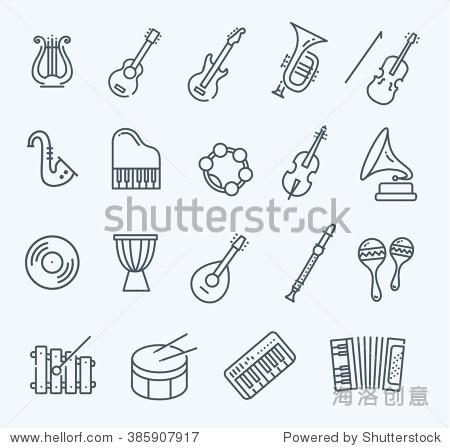 音乐乐器.矢量图标