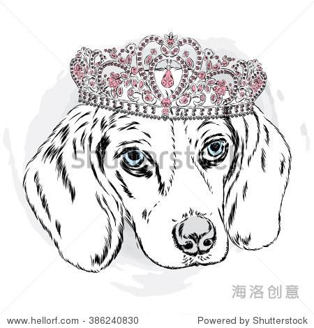 手绘可爱皇冠贴图素材
