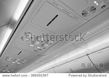 飞机机舱有禁止吸烟标志