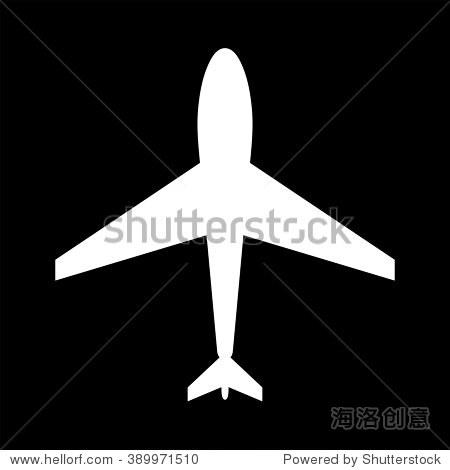 黑白网络图标的飞机.机场图标,平面形状.飞机图标,形状,标签,符号.