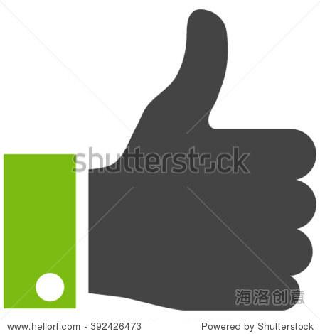伸出大拇指矢量图标.伸出大拇指图标符号.伸出大拇指图标形象.