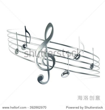 高音谱号,音符